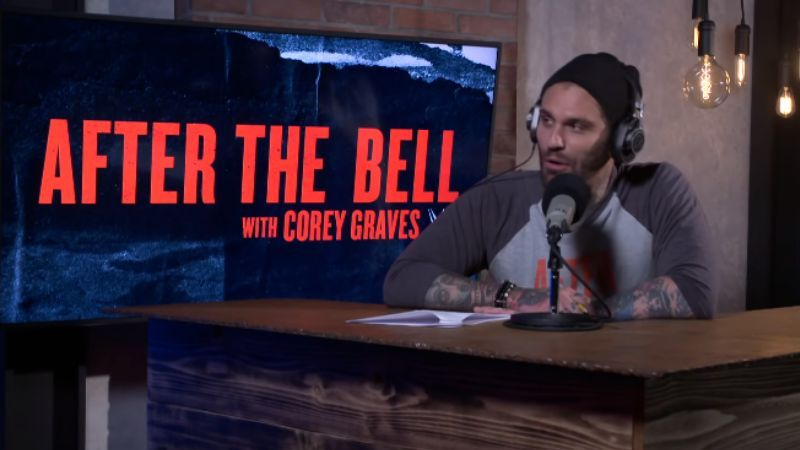 Corey Graves watched the segment from the announce desk