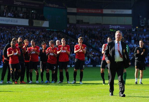 Sir Alex Ferguson oversaw a dramatic 5-5 goal fest in his final game in charge