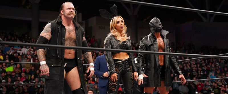 The Butcher, the Blade, and the Bunny (Ally) on AEW Dynamite.