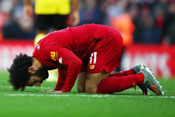 Mohamed Salah won the match for Liverpool against Watford today