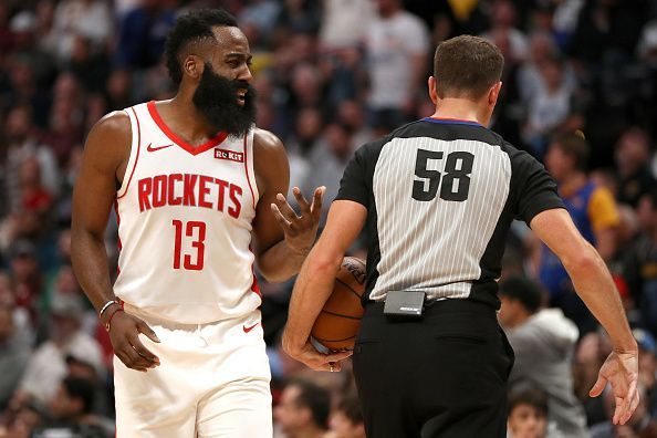 James Harden leads the NBA in scoring
