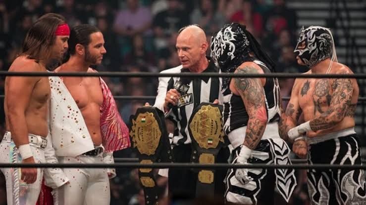 AAA Tag titles were defended on two separate AEW PPVs this year