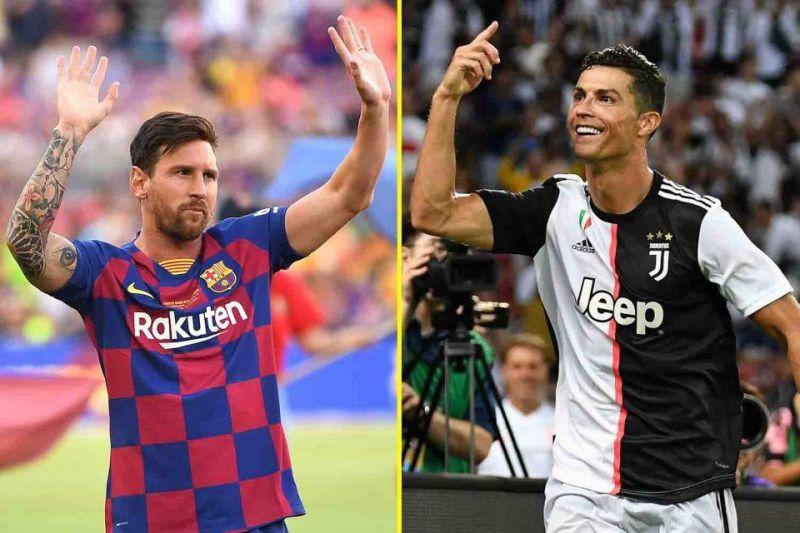 Lionel Messi (left) and Cristiano Ronaldo (right)