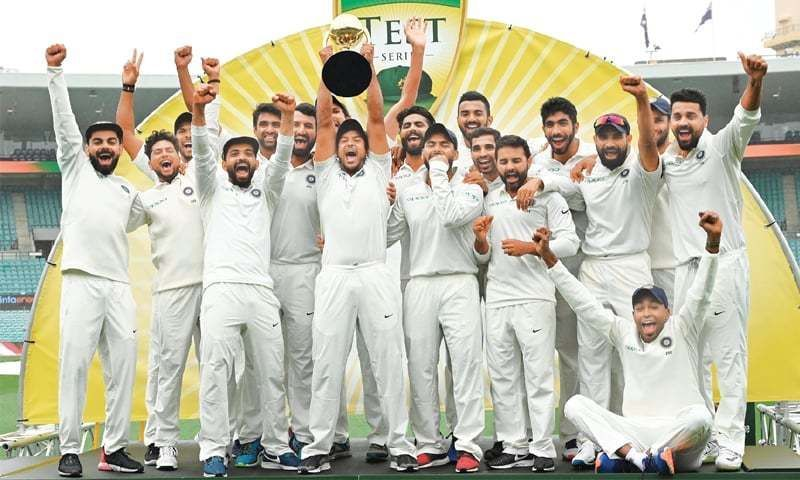 India won their first-ever Test series in Australia since 1947.