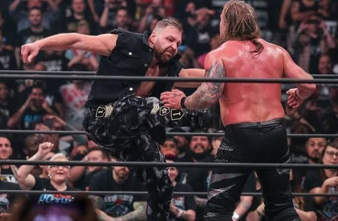 Jon Moxley attacked Chris Jericho at Double or Nothing