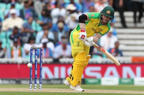 Warner clips past mid-wicket