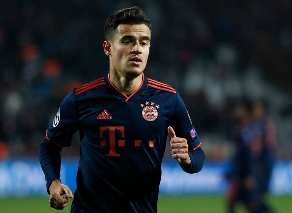 Philippe Coutinho in action for Bayern Munich against Crvena Zvezda in the UEFA Champions League