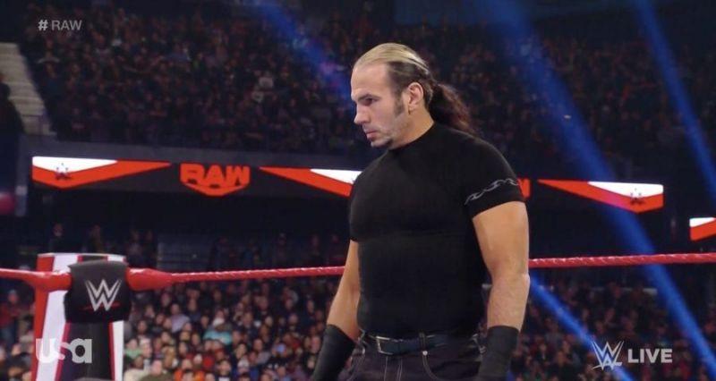 Matt Hardy returned to Raw last week
