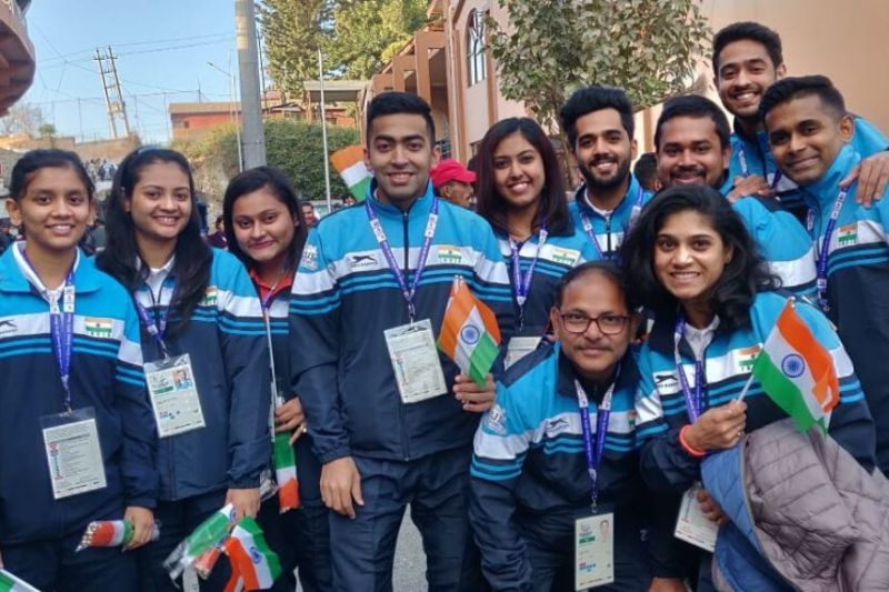 Indian table tennis players won all the gold medals on offer on the Day 4 of the South Asian Games 2019