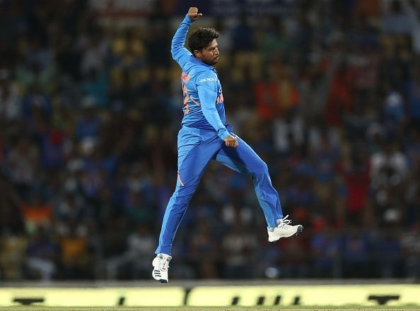 Kuldeep Yadav had earlier taken a hat-trick against Australia