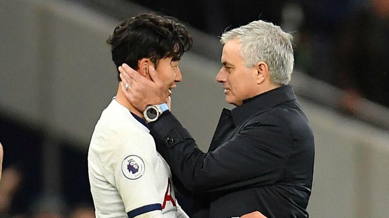 Son & Mourinho - cropped