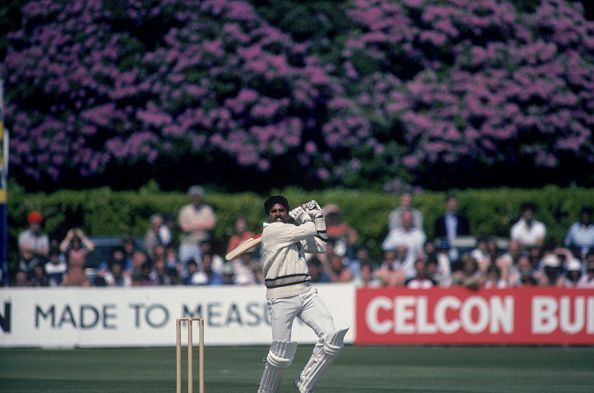 Kapil Dev during his epic 175 unbeaten in the World Cup