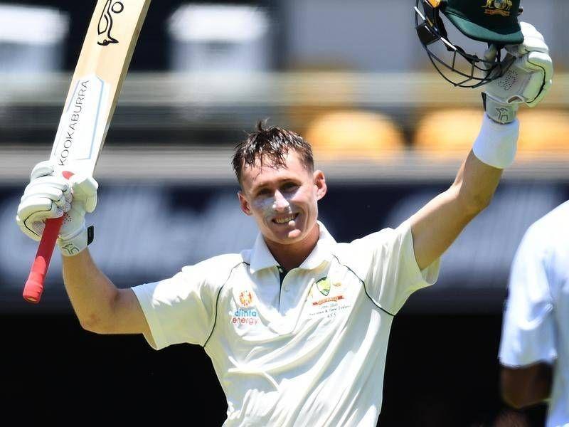 Marnus Labuschagne scored his maiden Test century against Pakistan at Brisbane