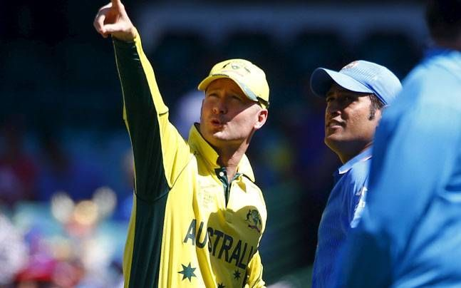 Michael Clarke and MS Dhoni