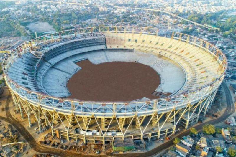 मोटेरा का निर्माणाधीन स्टेडियम
