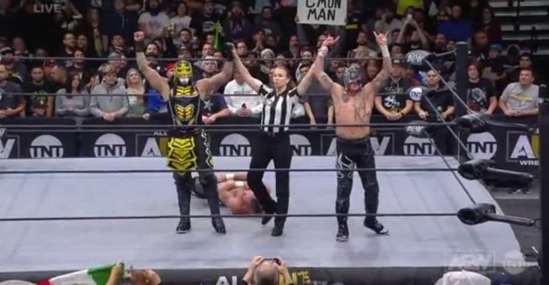 The Lucha Bros defeated Omega and Page
