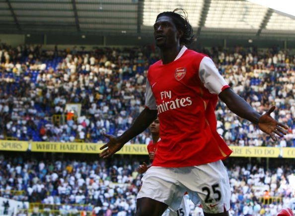 Emmanuel Adebayor scored 62 goals for Arsenal during his time there