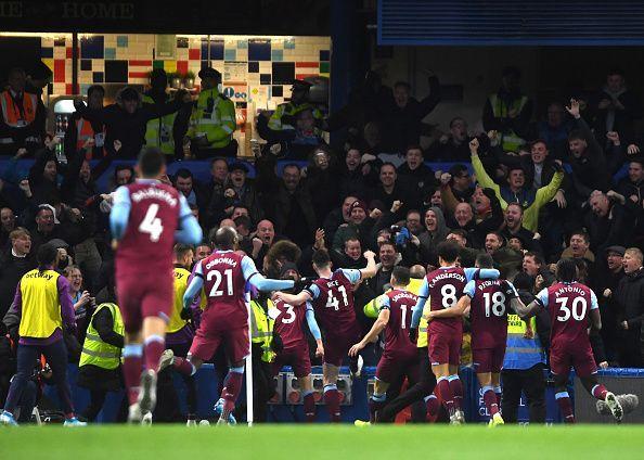 West Ham were the unlikely winners at Stamford Bridge
