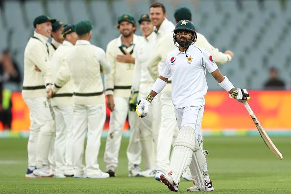 Australia celebrate the fall of another Pakistan wicket