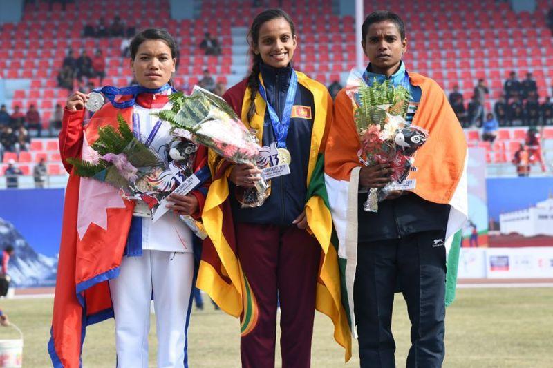 Sri Lanka dominated its opponents in athletics