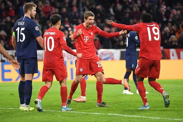 Bayern Munich defeated Tottenham Hotspur 3-1 at the Allianz Arena tonight