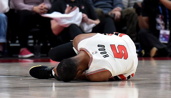 Hood recently underwent successful surgery to repair a ruptured Achilles tendon