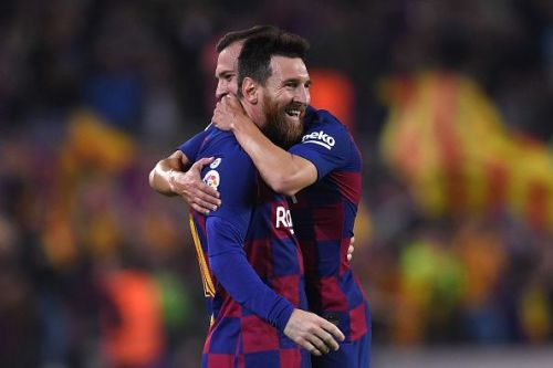 Jordi Alba has formed a brilliant connection with Messi