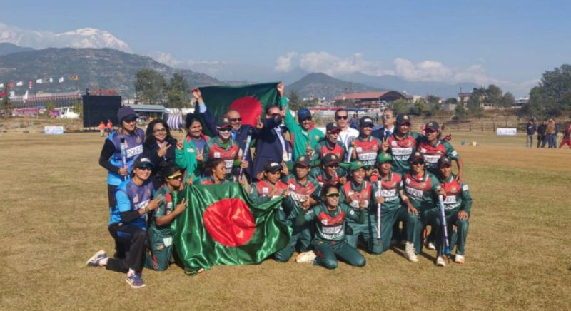 बांग्लादेश महिला टीम ने स्वर्ण पदक जीता (Photo: Twitter)