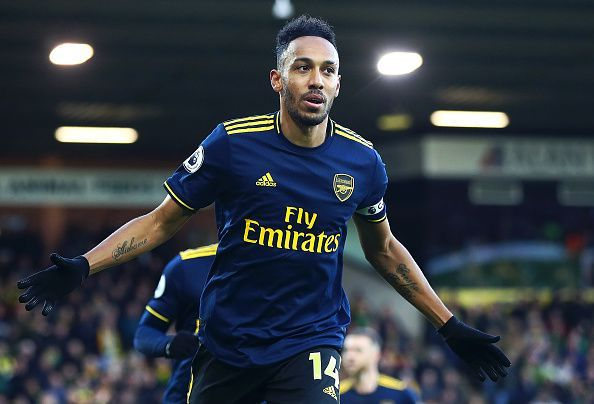 Aubameyang is the joint second-highest goal-scorer in the league, with ten strikes to his name