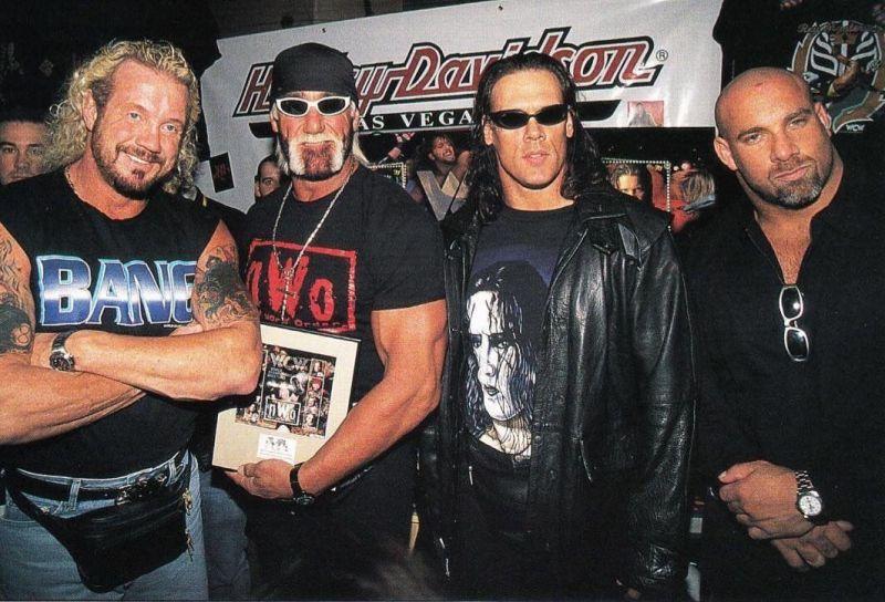 DDP, Hulk Hogan, Sting and Goldberg