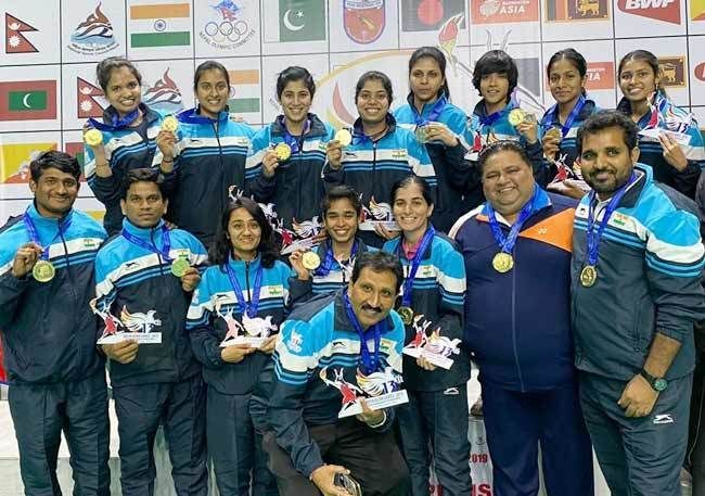 The Indian badminton team