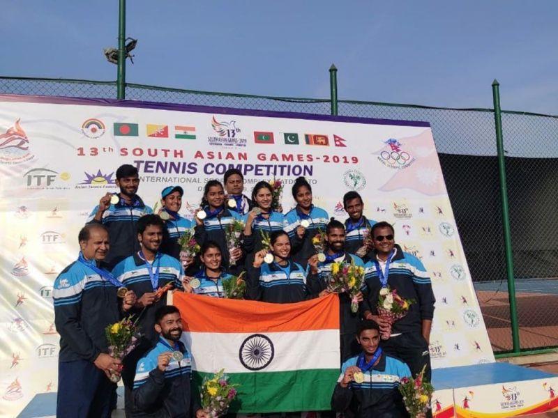 टेनिस में भारत को 2 स्वर्ण पदक मिले