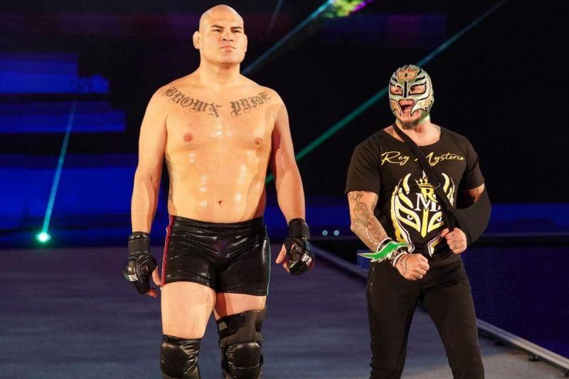 Cain Velasquez with Rey Mysterio