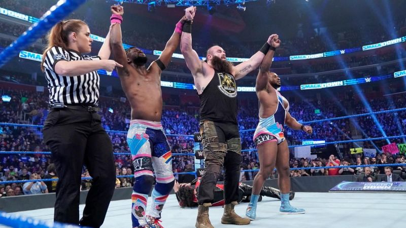 Braun joined the New Day for a one-off match