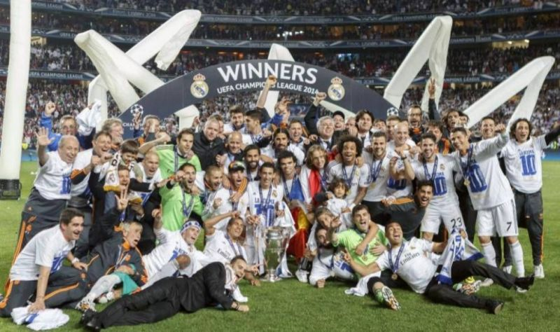 Madrid celebrate their La Decima following their win in the 2013-14 Champions League final