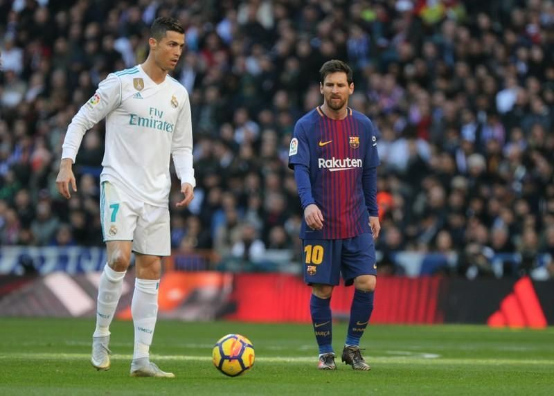 Ronaldo (left) and Messi