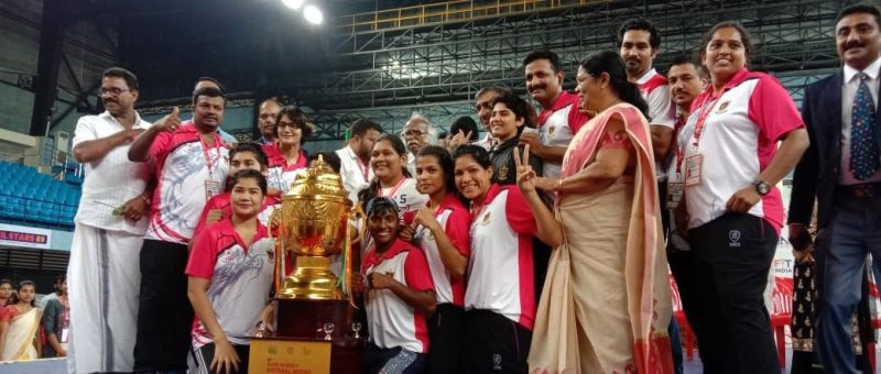 Railways boxers celebrate with their trophy