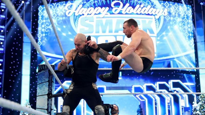 Daniel Bryan and Baron Corbin in action