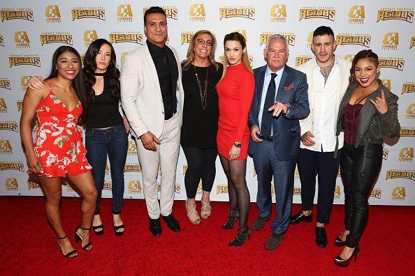 Alberto Del Rio with Kate del Castillo and other Combate Americas favorites in Los Angeles