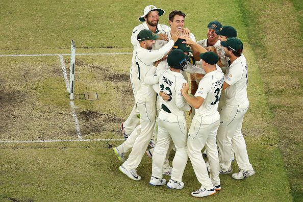Australia won the first Test match against New Zealand