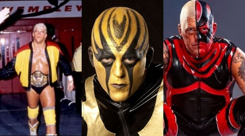 The many faces of Dustin Rhodes