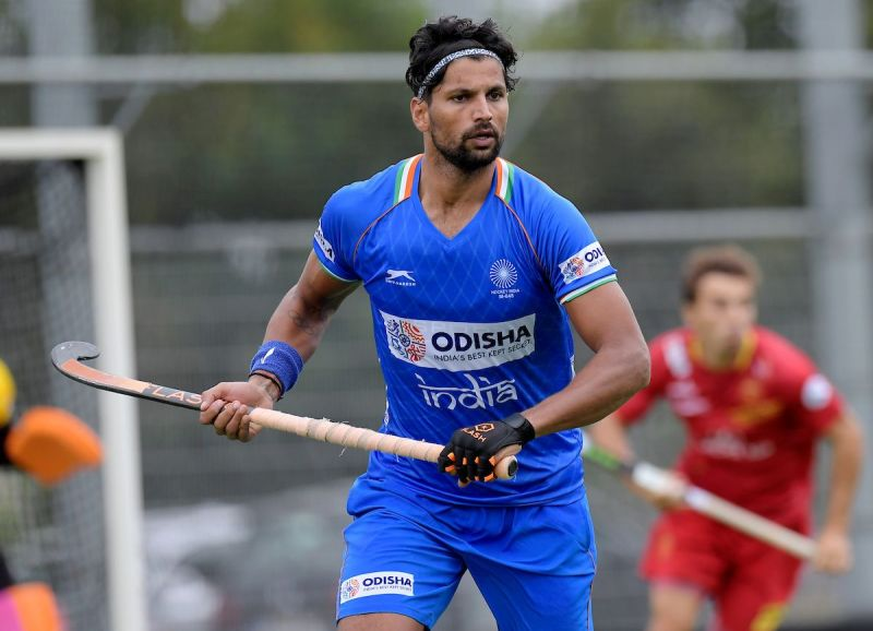 Rupinder Pal Singh in action for India