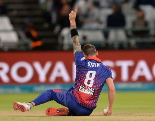 Dale Steyn continues to the lead the bowling charts with a total of 15 wickets so far.
