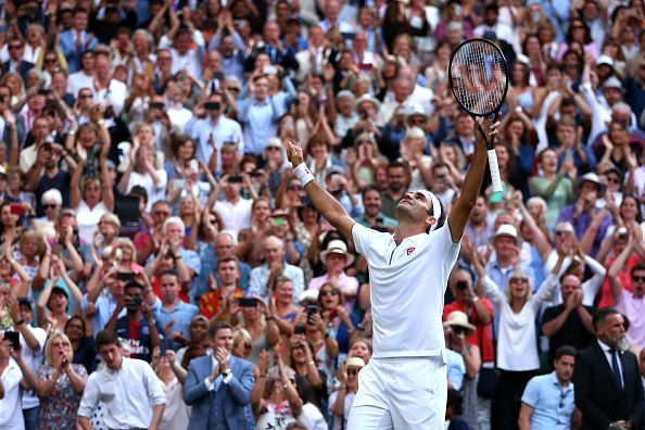 The Championships - Wimbledon 2019: Federer is ecstatic after defeating Nadal