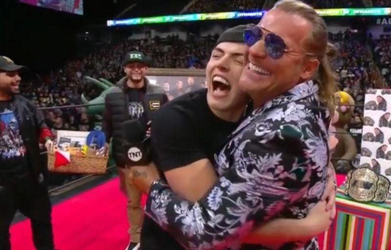 Sammy Guevara and Chris Jericho