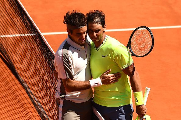 2019 French Open - Federer (L) and Nadal