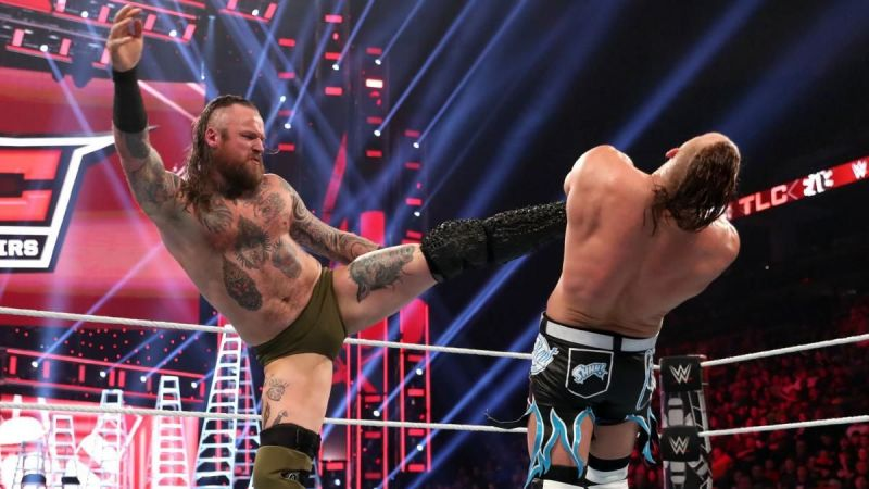 Aleister Black defeated Buddy Murphy at TLC
