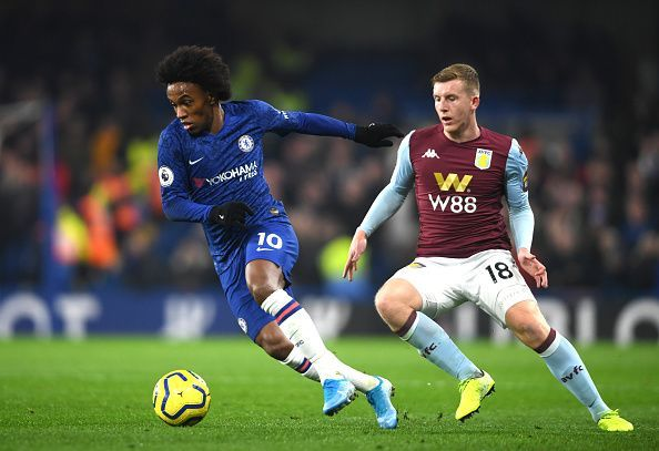 Willian endured a poor first-half at the Bridge