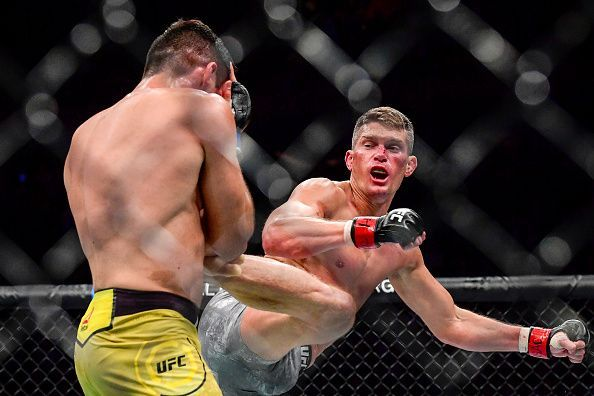 Stephen Thompson from his last fight against Vicente Luque