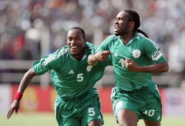 Jay Jay Okocha (right) was one of the most talented footballers of his generation.